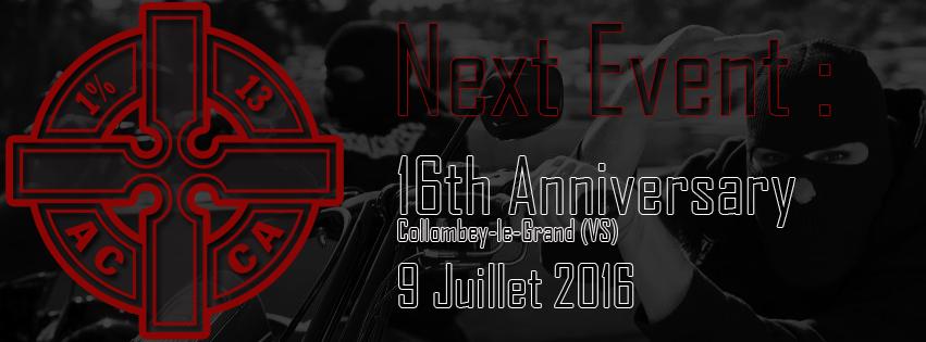 Next Event Anniversaire 2016